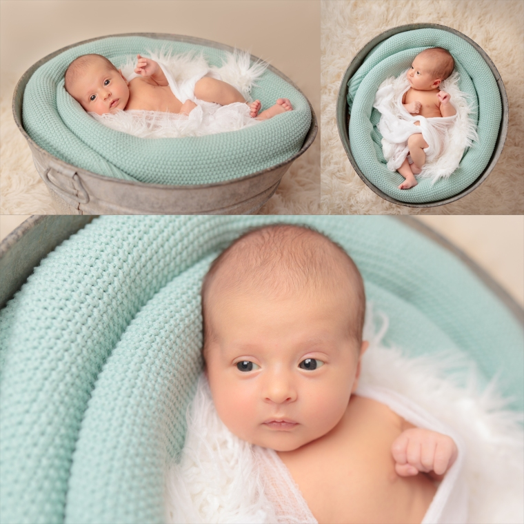 Calvert, Newborn Pail Color collage