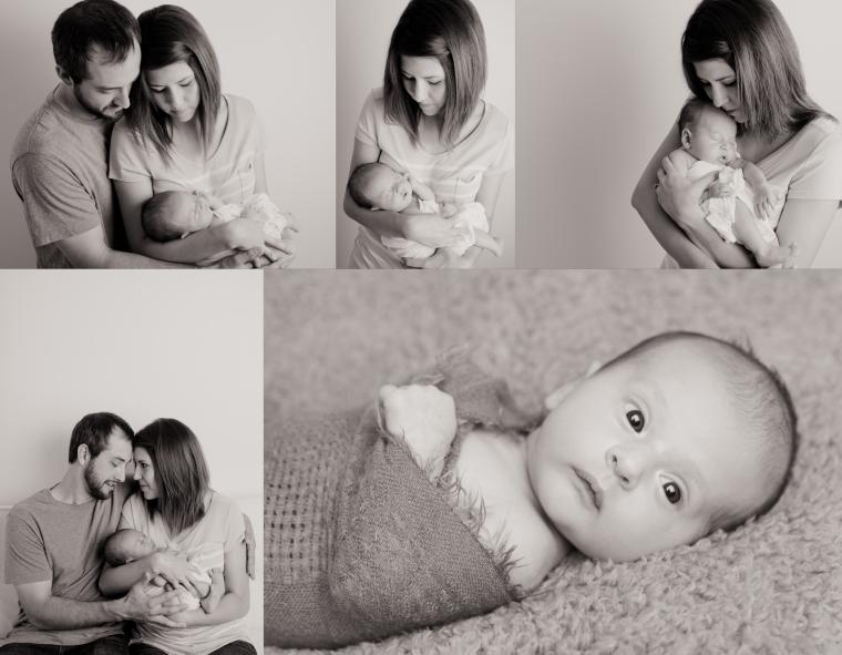 Corrie Calvert BW Newborn Collage